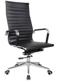 replica office chairs. replica eames classic high back upholstered in black pleather office chairs