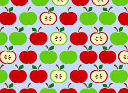 Apple Pattern Mesmerizing Clipart Apples Pattern Blue