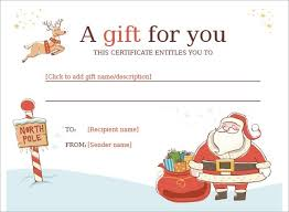 Word Templates For Gift Certificates Christmas Gift Certificate Template Microsoft Word Lazine Net