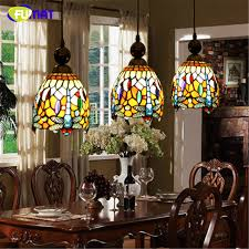 Superb FUMAT Stained Glass Pendant Lamp Art Vintage Dragonfly Glass Shade Lamp LED  Restaurant Kitchen Dining Room Awesome Design