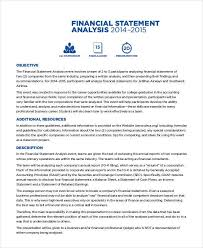 Analysis Report Template Word Awesome Financial Analysis Example Metalrus