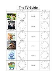 Tv Guide Chart For Short Crossword Tv Guide Worksheet Tv Guide Worksheets Tvs