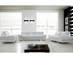 Modern Design Leather Sofa Set In White L - All leather sofa sets