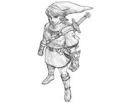 Legend Of Zelda Link Coloring Pages Get Coloring Pages