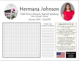 Personalized Lds Missionary Countdown Chart Missionary