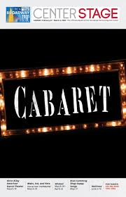 Tpac War Memorial Seating Chart Tpac Broadway Cabaret By Performing Arts Magazines Of