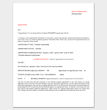 Job Appointment Letter 22 Samples In Word Doc Pdf Format