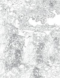 Coloring Pages Waterfall Coloring Page Pages To Download And