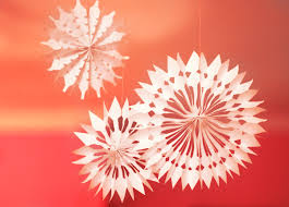 paper snowflakes 3d diy paper snowflake decorations how about orange