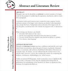 Literature Review Outline 9 Literature Review Outline Templates Samples Free Premium
