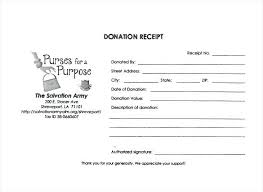 Donor Receipt Template