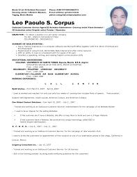 Call Center Resume Sample Call Center Agent Resume Sample Therpgmovie 7