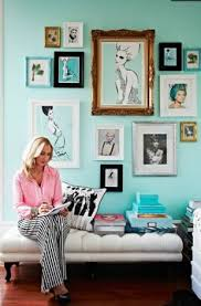 paint bedroom photos baadb w h: girly wall color i love the teal in the illustrations and photography matching the teal wall effective love the selection of brown frames creating a
