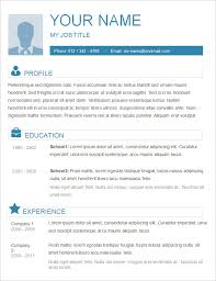 Simple Resume Format Download In Ms Word Tomyumtumweb Com