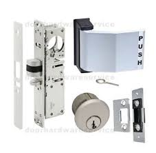 commercial door lock types. Exellent Lock Image Is Loading ADAMSRITETYPECOMMERCIALDOORDEADLATCHLOCKPADDLE Throughout Commercial Door Lock Types C