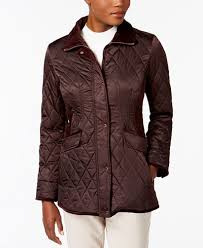 Vince Camuto Velvet-Trim Quilted Coat, A Macy's Exclusive - Coats ... & Vince Camuto Velvet-Trim Quilted Coat, A Macy's Exclusive Adamdwight.com