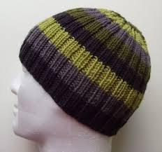 Knit Hat Pattern Straight Needles Custom Decorating