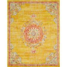 penrose alexis gold 8 ft x 10 ft area rug