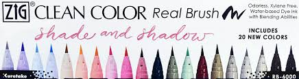 Zig Clean Color Real Brush Set Of 20 Shade And Shadow Colors