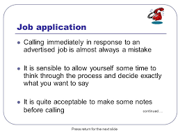 Calling For A Job Telephone Skills Using The Phone To Help With Your Job