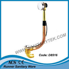 brass bath tub drain and overflow with trap d8516
