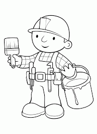 Small Picture Bob The Builder Coloring Pages Coloring Page Blog
