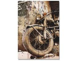 glory days motorcycle rusty print on wood wall art outdoor safe home decor gift ideas for him ready to hang on motorbike wall art australia with motorcycle wall art etsy