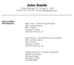 do you list references on a resumes resume references list references list for resume resumes with write