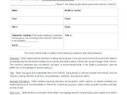 Automobile Bill Of Sale Template Ezoracoon Info