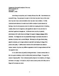 rhetorical analysis essay of a commercial anti smoking advertisement rhetorical analysis scribd