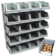 garage storage boxes. Unique Boxes 20 STORAGE BINS KIT WITH WALL MOUNT STACKING GARAGE HOME WORKSHOP Plastic  Parts Bins On Garage Storage Boxes