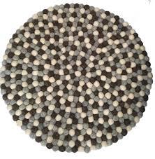beautiful handmade tactile felt natural colour ball rug from nepal 60 cm diameter 100 wool fair trade