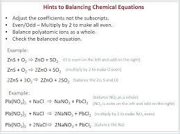 balancing equations practice ksheet answer key