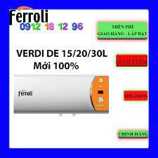 FREESHIP - Máy nước nóng gián tiếp Ferroli Verdi DE 15 Lít - 20 Lít - 30  Lít