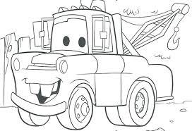 mater cars coloring pages disney printable pixar
