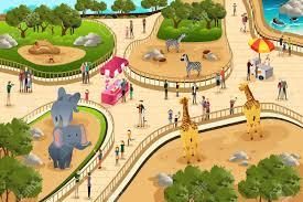 zoo clipart. Fine Clipart A Vector Illustration Of Scene In A Zoo Illustration And Zoo Clipart O
