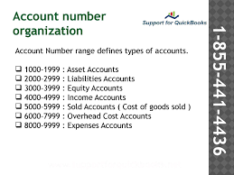 Quickbooks Support To Deal With Chart Of Accounts Chart Of