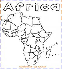 Printable Africa Map Coloring Page Printable Coloring Pages For Kids