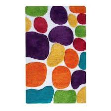 pebbles brights rainbow multi 2 ft x 3 ft indoor bath rug