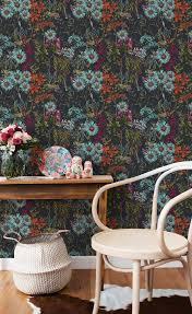 Behang Summerish Bloemen