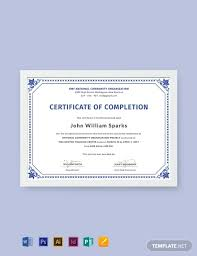 Certificate Of Completion Templates Free Completion Certificate Templates In Adobe Indesign