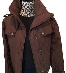 Lilly Pulitzer Brown Quilted Jacket Pea Coat Size 6 (S) - Tradesy &  Adamdwight.com