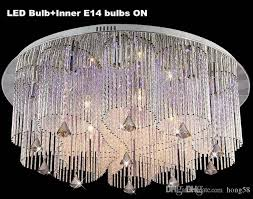 lovely new modern rain drop rectangle k9 crystal chandelier lighting for flush mount chandelier