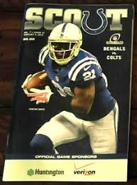 Details About Indianapolis Colts Playoff Program 2014 V Bengals