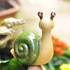 cute snail garden home decorations of ceramic decoration