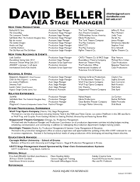 Stage Manager Resume Template Reference Inspirational Personal