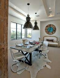 office ceiling ideas. Office Lighting Ideas Industrial Home Transitional With Pendant Cowhide Rug Wall Ceiling