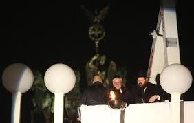 rabbi yehuda teichtal right and german president frank walter steinmeier light europe s largest