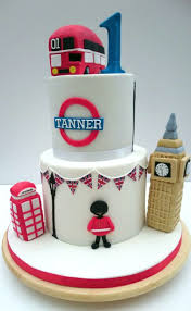 London Theme 1st Birthday Cake Cake By The Rosehip Bakery Cakesdecor