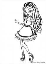 Monster High Coloring Pages On Coloring Bookinfo